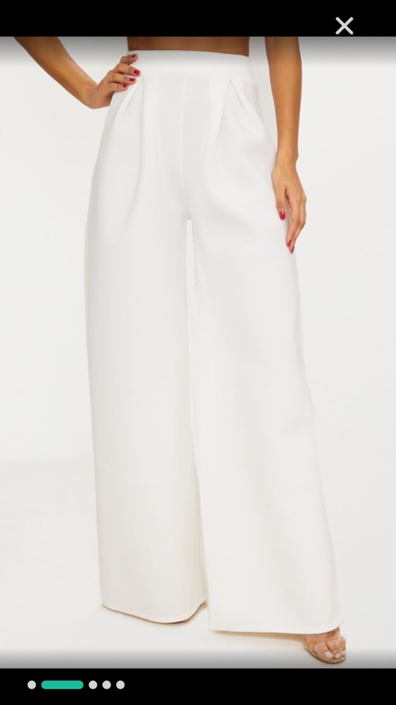 White wide leg