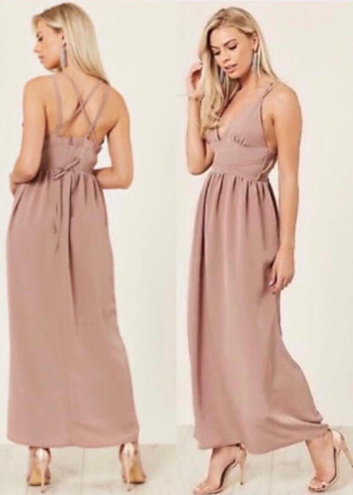 Maxi nude dress