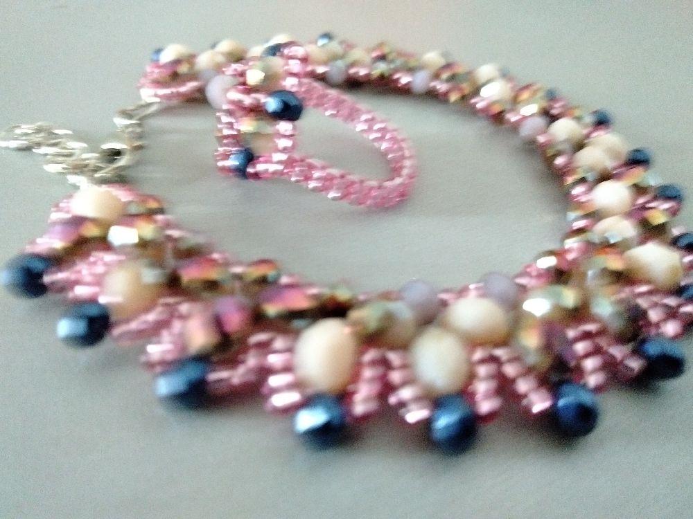 Stone beads bracelet+bague (article#209)