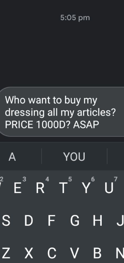 Im trying to sale all my articles in price of 1000D
