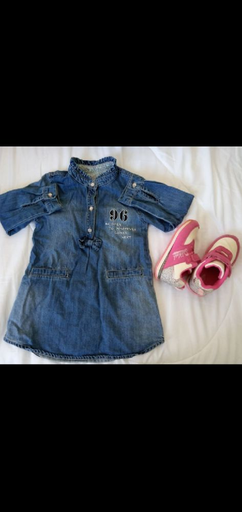 Dress denim jean and shoes for kid