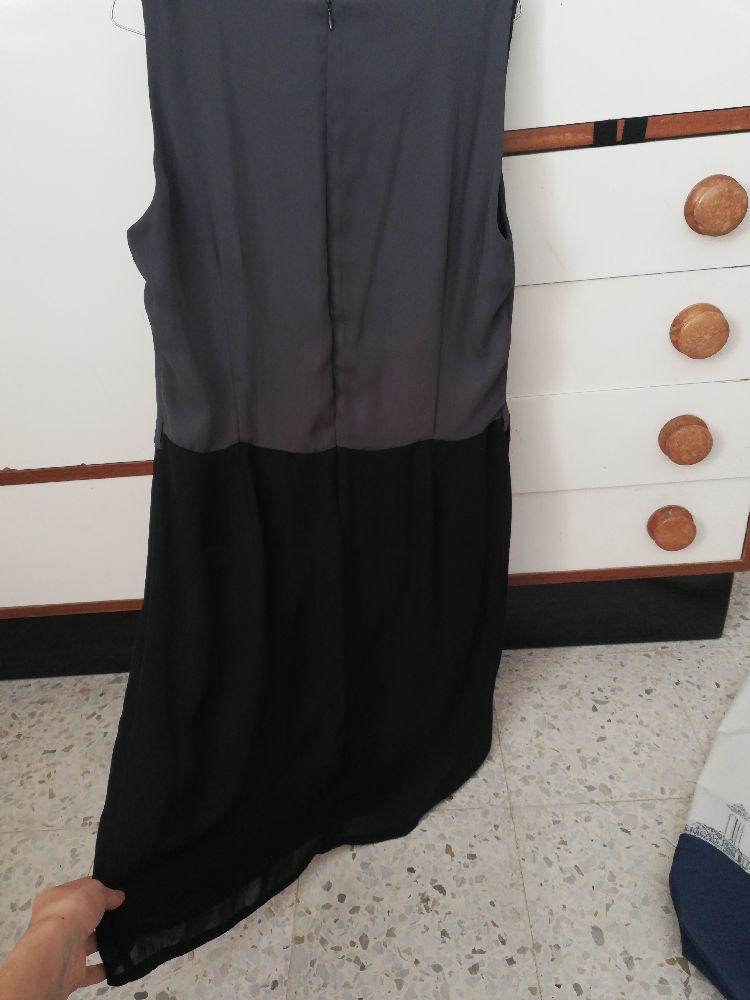 Belle robe camaïeu gris et noir