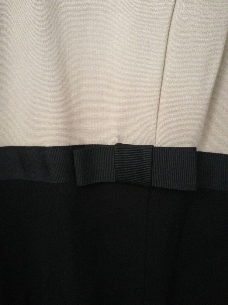 Robe beige et noire