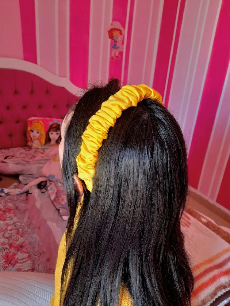 Serre-tête jaune