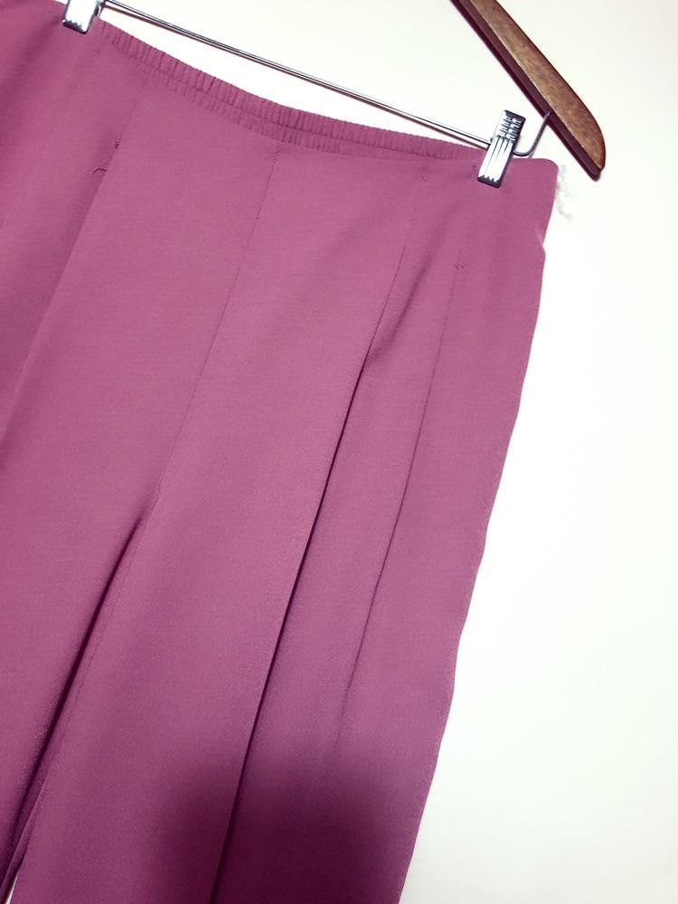 Pantalon court large et taille haute