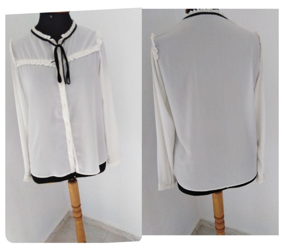 Chemise blanche à nœud taille L