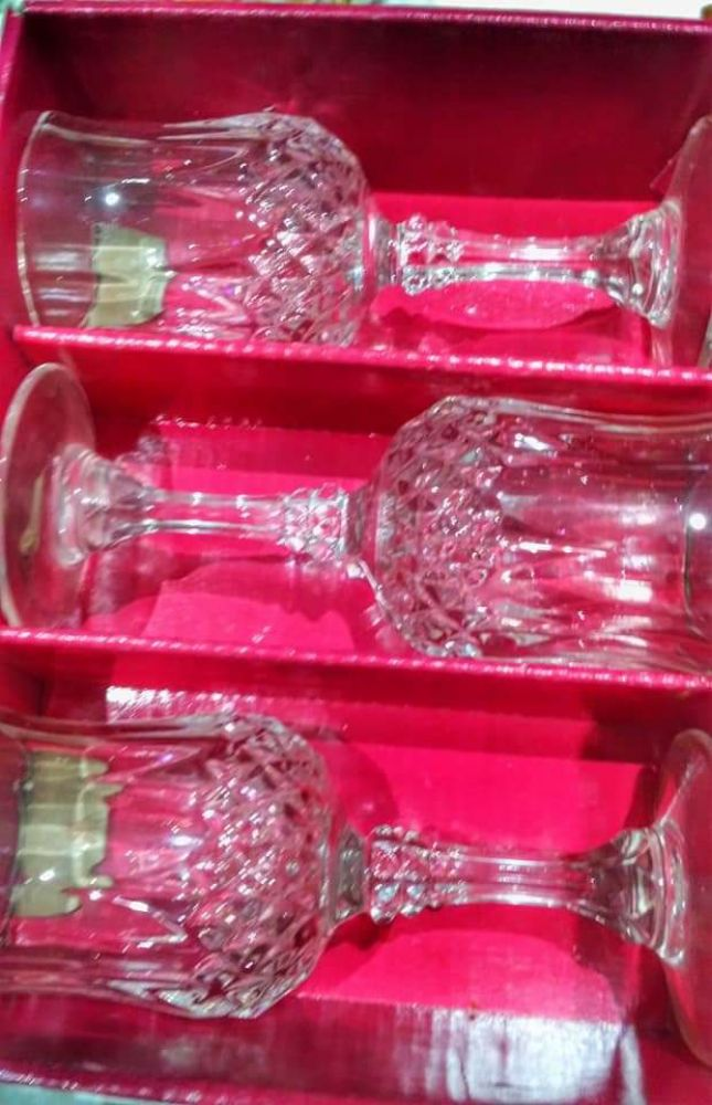 9 coupes de Zrir en Cristal de Bohême