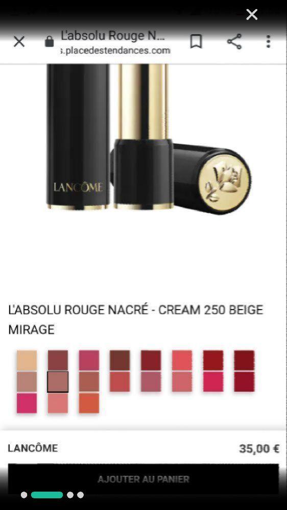 Rouge à lèvres Lancôme 250 beige miracle cream format testeur tout neuf