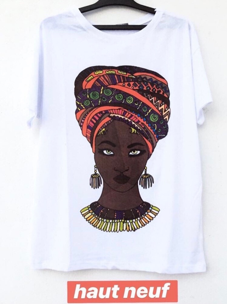 Tshirt FEMME AFRICAINE oversize jamais porté