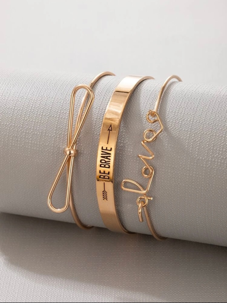 Lot de 3 bracelets tres chic