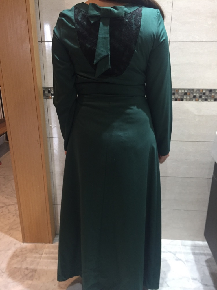 Robe longue vert bouteille
