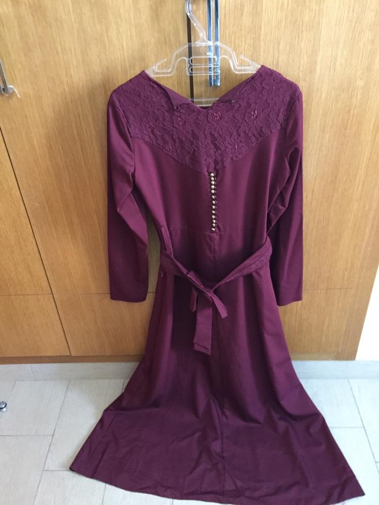 Robe longue rouge bordeau