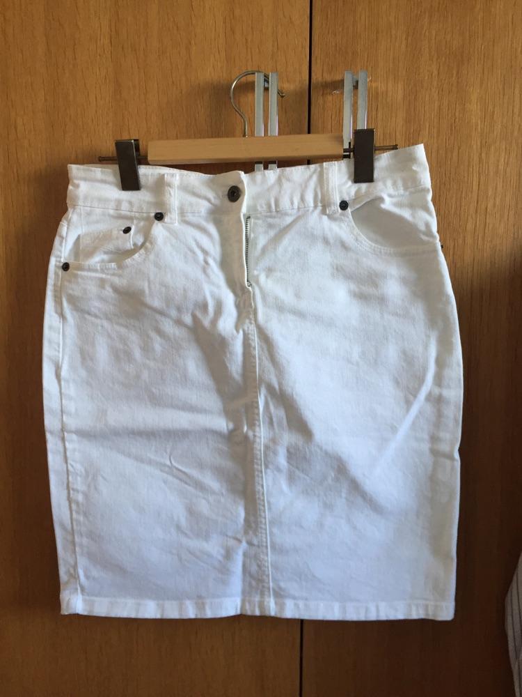 Jupe en jean blanche