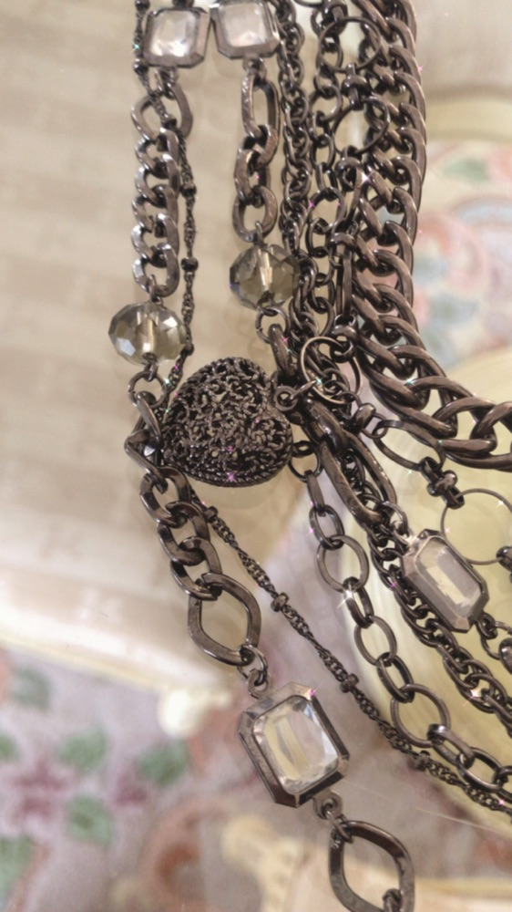 Magnifique Collier Multi-Rangs  inoxydable