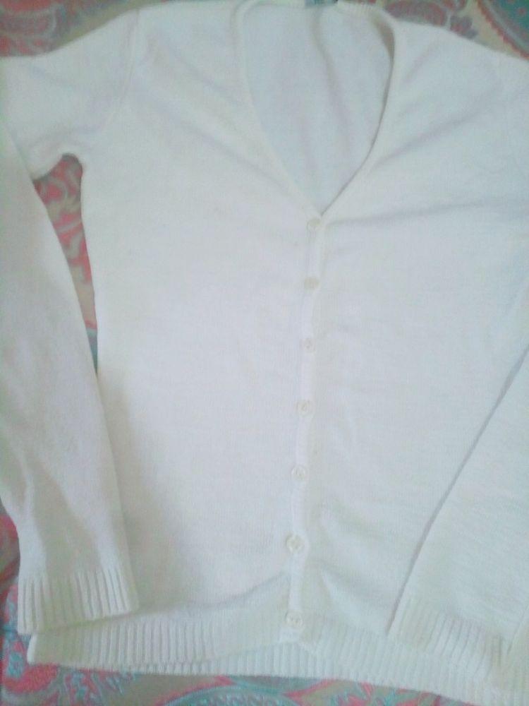 Gilet blanc côle V taille S/M