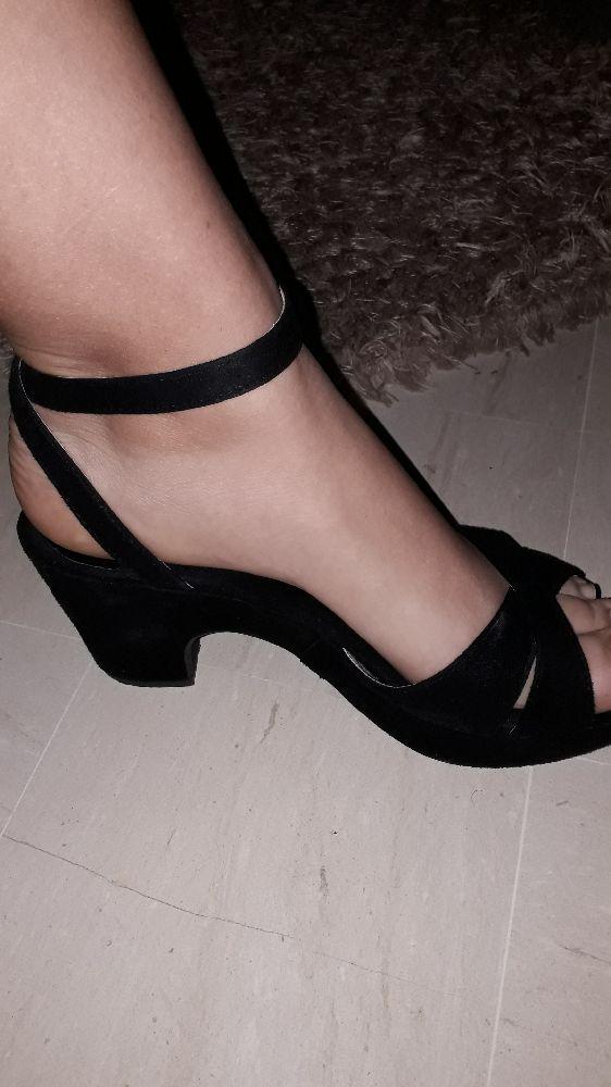 Sandales talons en daim