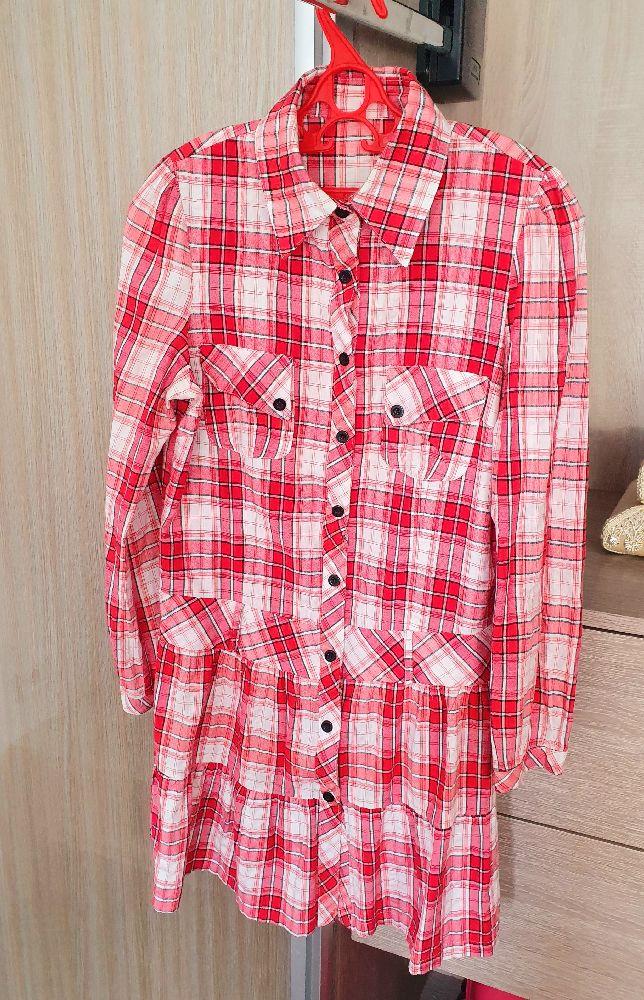 Chemise à carreaux rouge très jolie