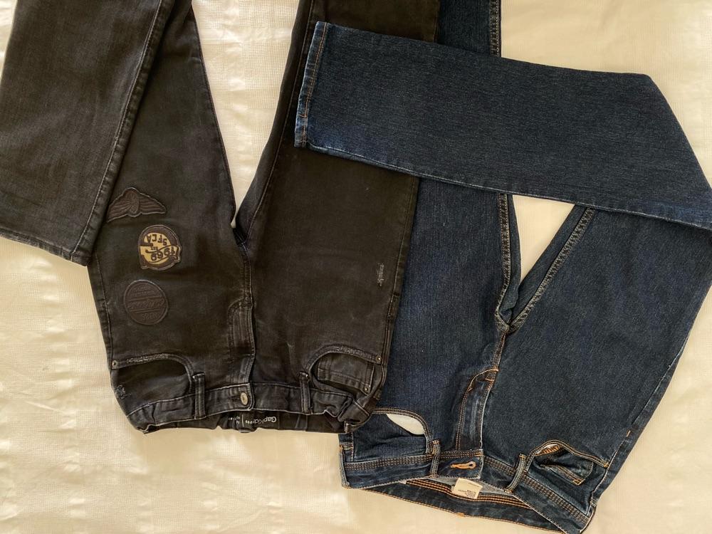 2 pantalons H&M denim /gapkids