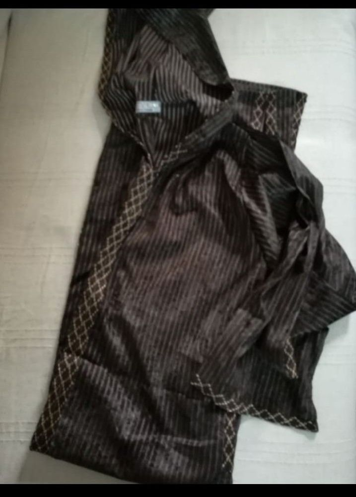Djellaba marocaine velours avec capuche