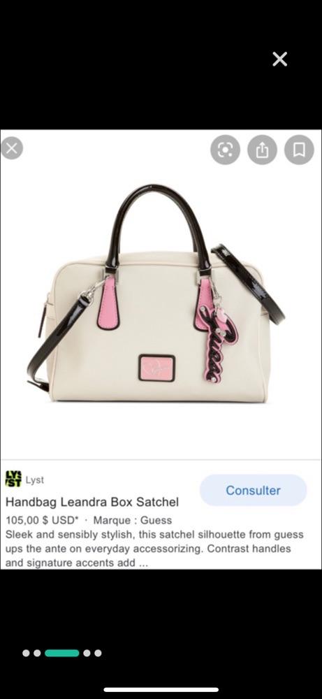 Sac a main leandra box satchel guess