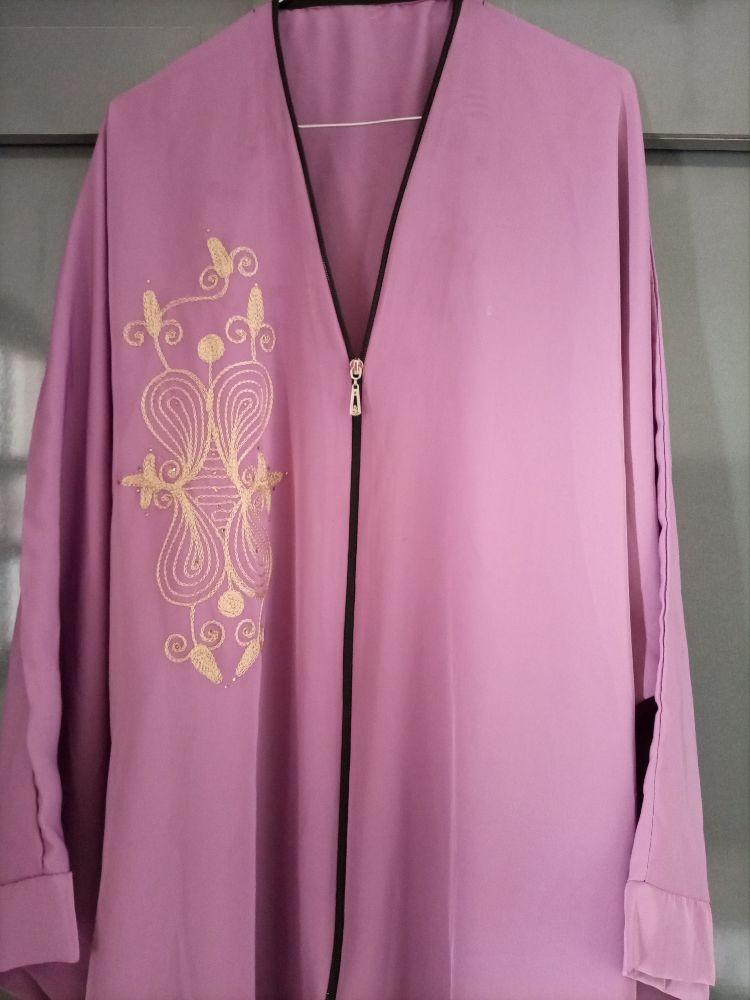 Abaya kimonos tissu satiné souple