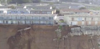 Evacuation Of Cliffside Homes