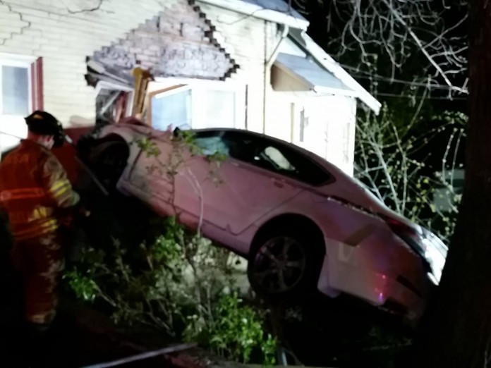 Car into house Payson Fire Rescue