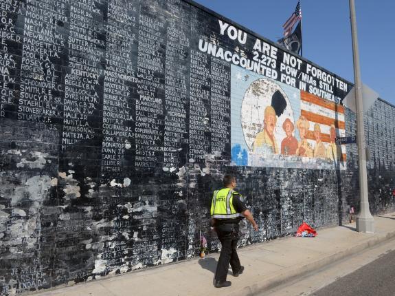 Vietnam war veteran memorial vandalize