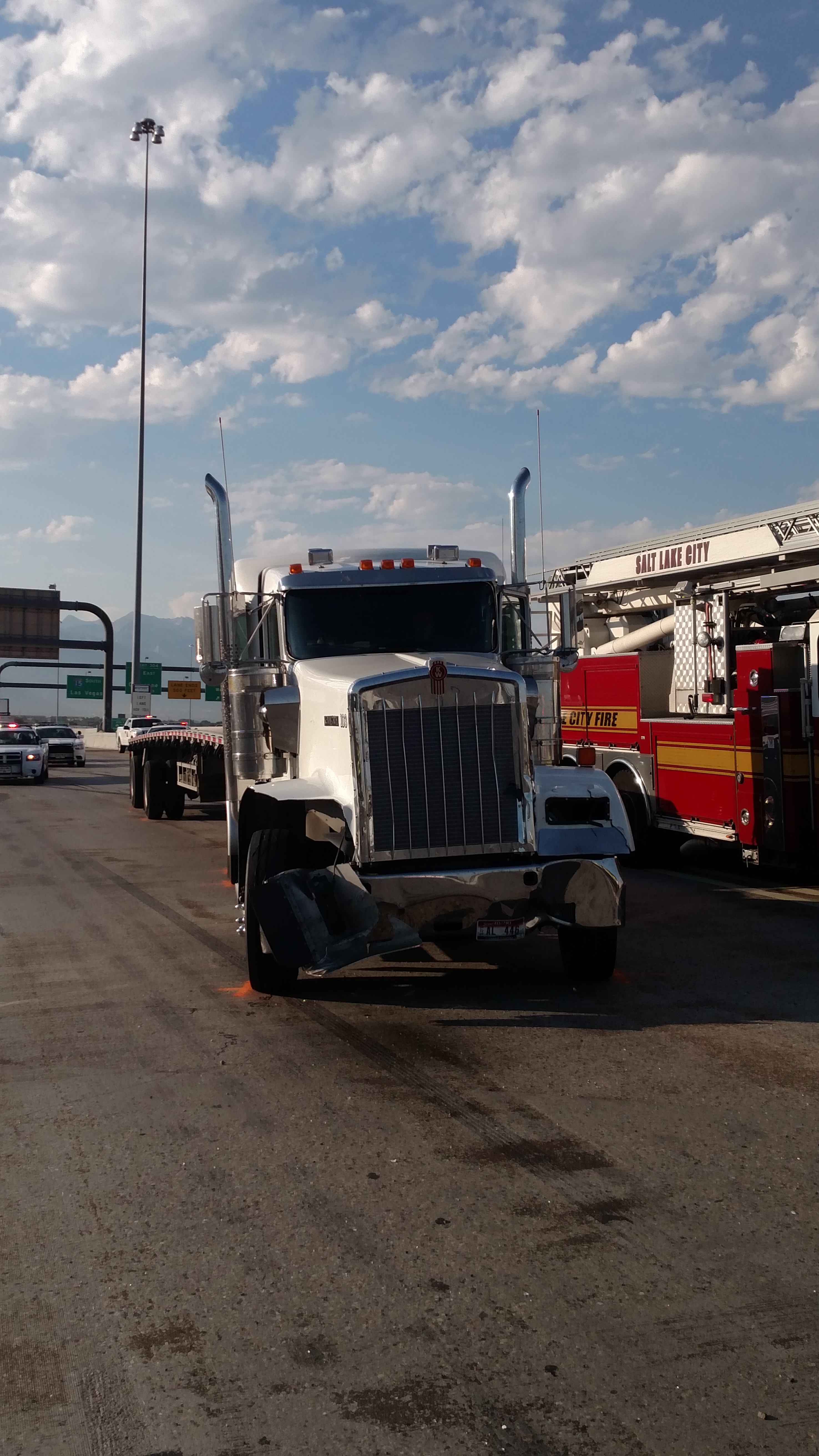 Five lanes of I-15 closed at 600 South after fatal accident
