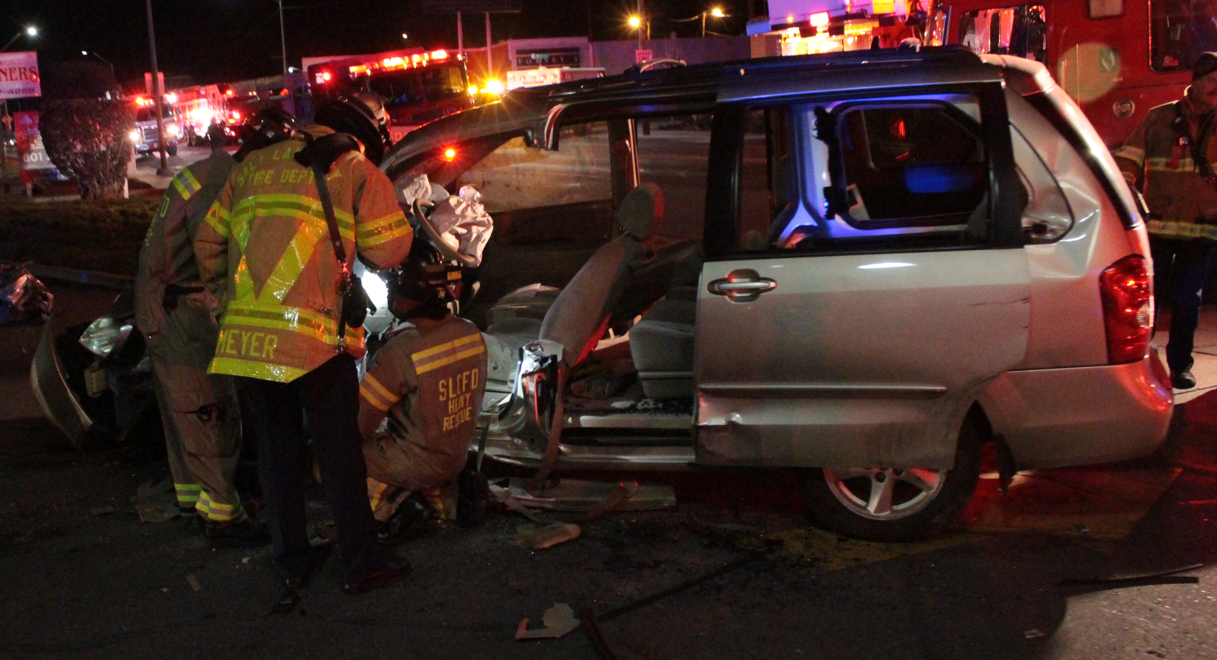Man extricated, in critical condition, after 2-vehicle crash in