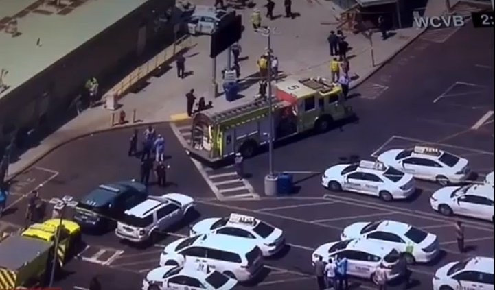 Taxi cab hits group of people near Boston's airport