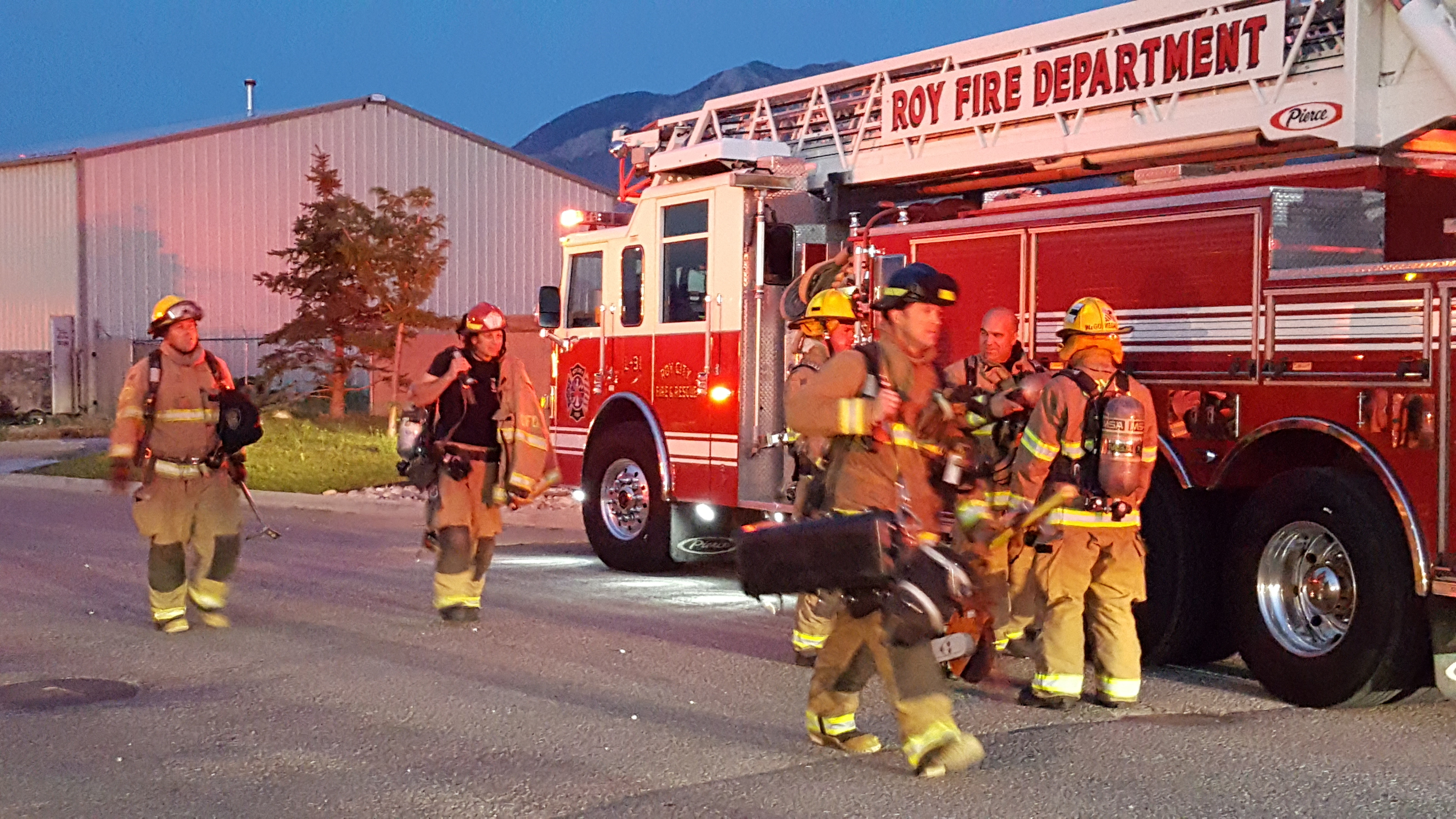 Ogden and Roy firefighters. File photo: Gephardt Daily