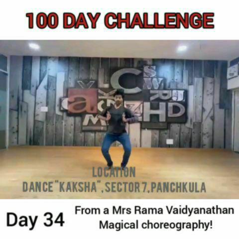 A rhythmic input from a 30 minute choreography by my idol, Mrs Rama Vaidyanathan