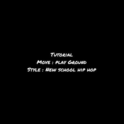 Dance tutorial Play Ground