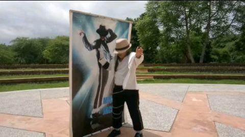 "#MJ forever_ I""m little MJ Aditi sunam ❤️ Ü MJ Happy Birthday"