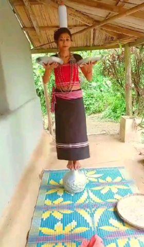 Hojagiri folk dance ( TRIPURA famous dance 🔥)| o reang ni |