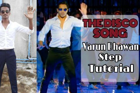 The Disco Song Varun Dhawan Step   SOTY