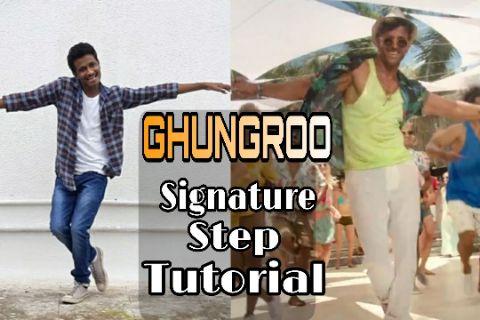 Ghungroo Song Signature Step Tutorial   Hrithik Roshan