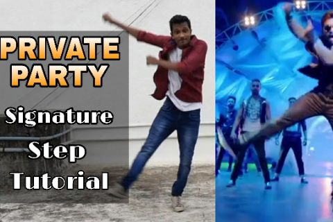 Private Party Song Signature Steps | Allu Arjun