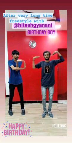 freestyle tutting with bro hitesh gyanani bday boy