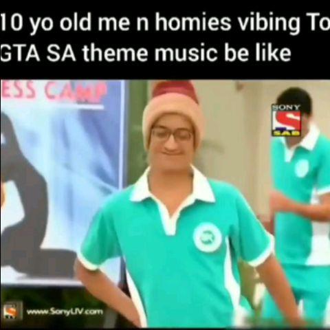 10 Yo Old Me With My Homies Vibing on GTA SA THEME Music