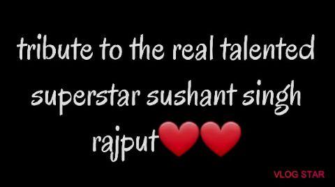 tribute to true gentleman sushant singh rajput❤️