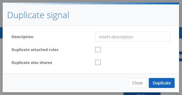 Duplicate signal