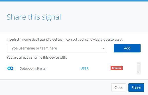 Sharing a signal