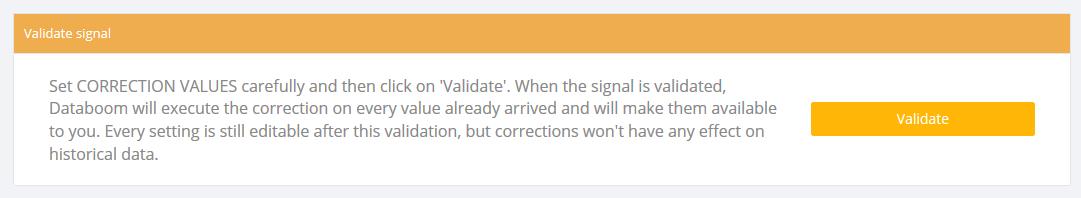 Validate signal