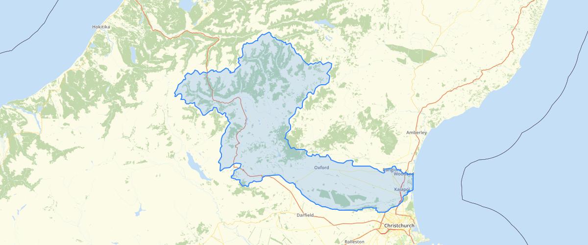 Canterbury - Waimakariri River Catchment