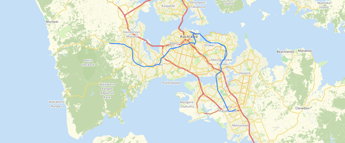 Auckland Train Route - Auckland Transport