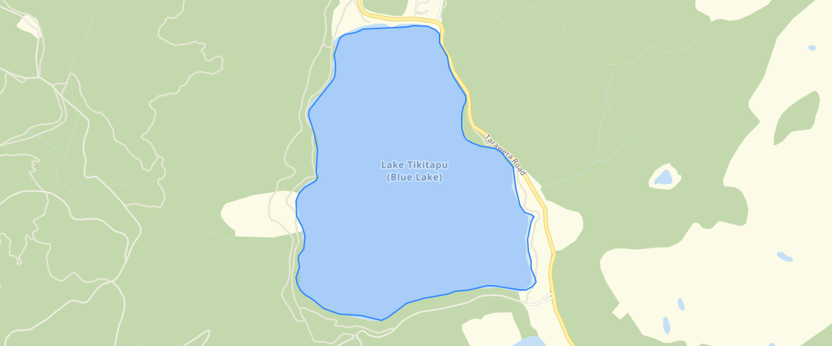 Bed of Lake Tikitapu