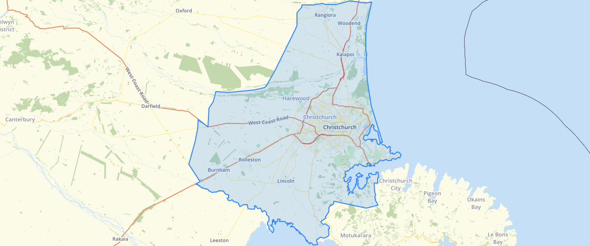 Canterbury - Area Covered by the Land Use Recovery Plan