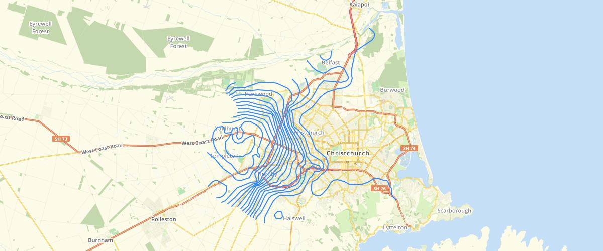 Canterbury - Depth To Groundwater